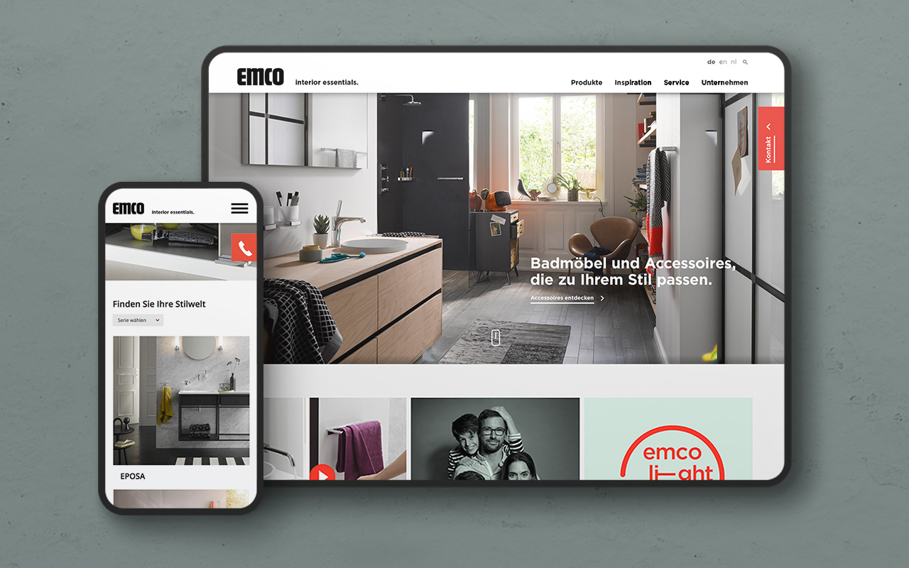 Webdesign emco Website Gestaltung UI UX Design