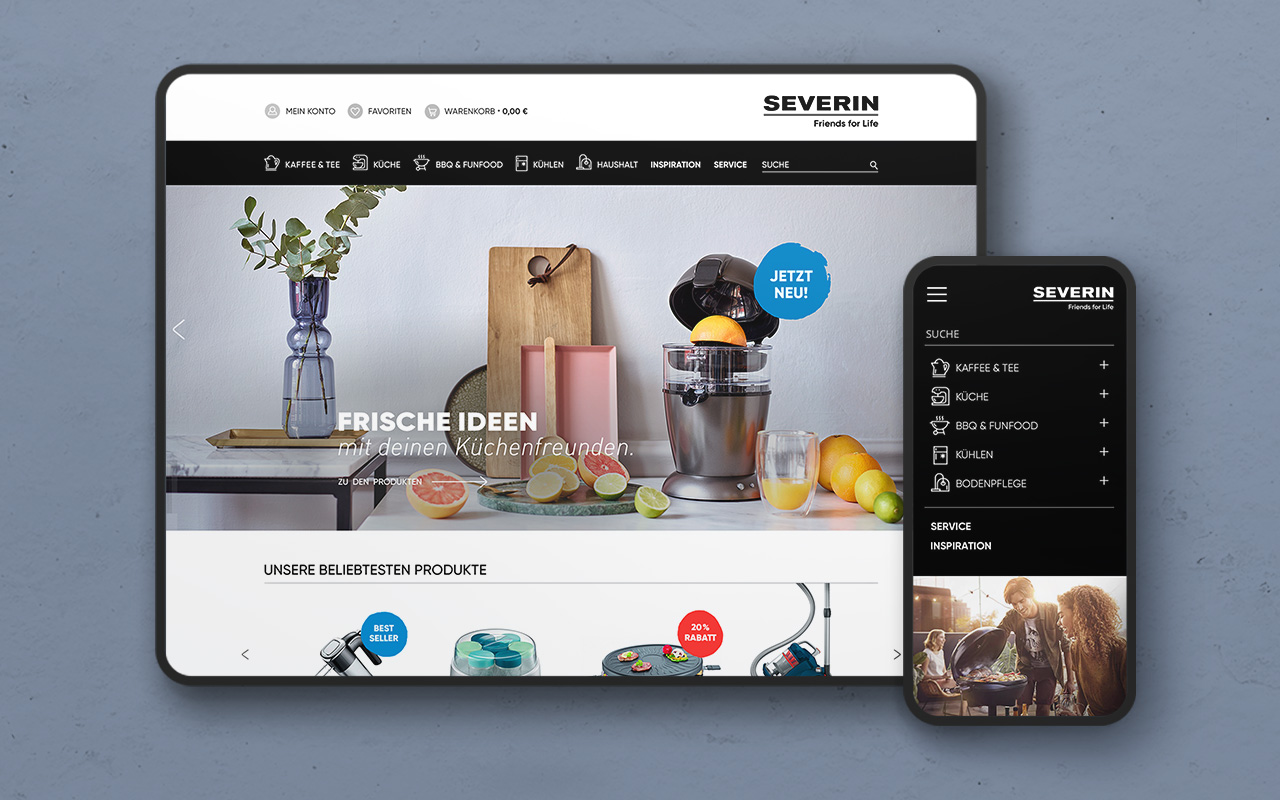 Webdesign UI UX Design Severin Shopsystem Shooting
